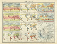 Map Of The World 1920.World Climate Maps Temperature January Rainfall January
