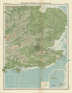 S E England Map.England And Wales S E Section Inset Channel Islands Times