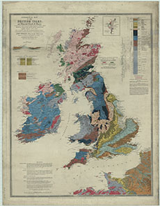Map Of France Coast.Geological Map Of The British Isles And Adjacent Coast Of France