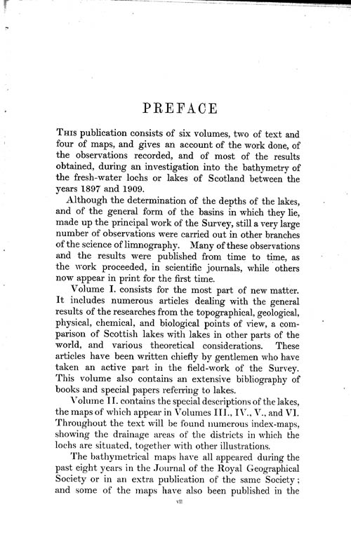 Page vii, Volume 1 - Preface