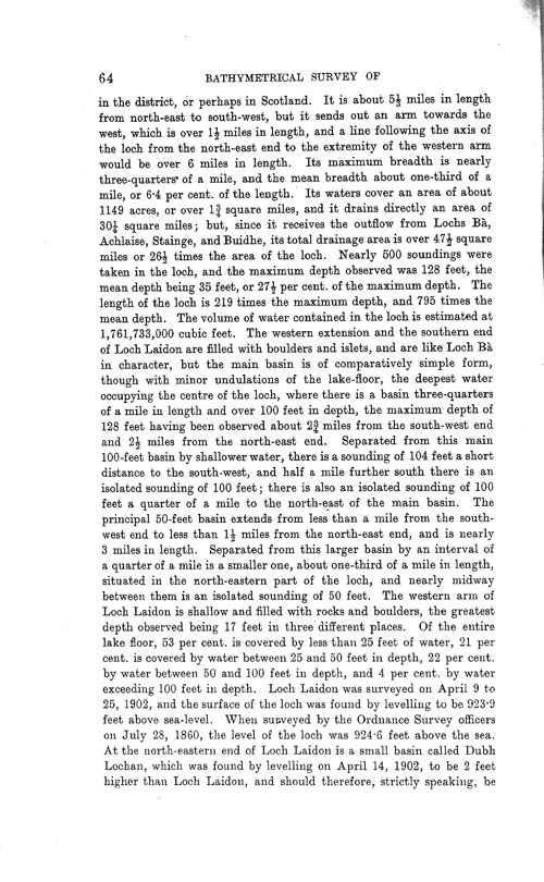Page 64, Volume II, Part I - Lochs of the Tay Basin