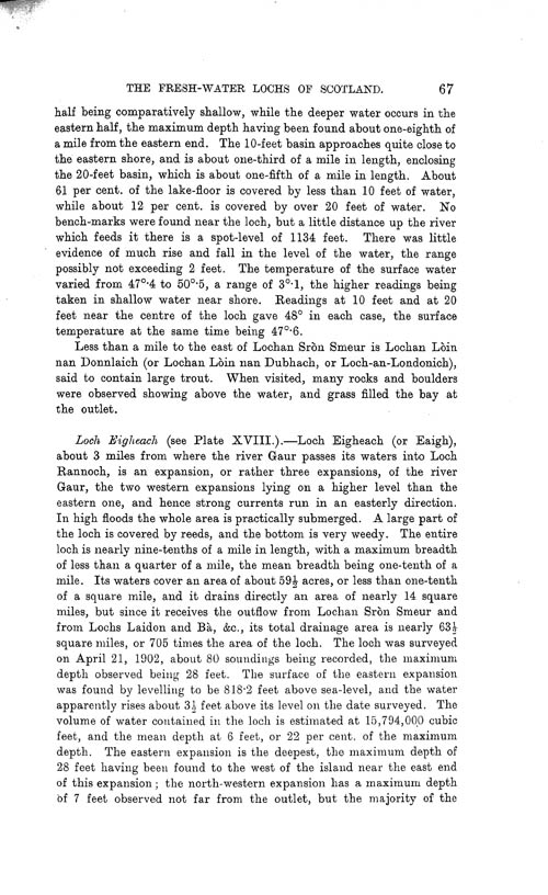 Page 67, Volume II, Part I - Lochs of the Tay Basin