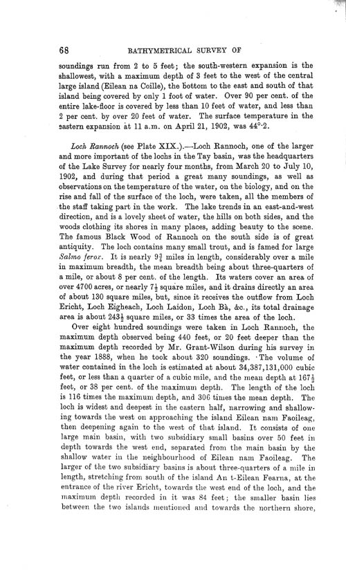 Page 68, Volume II, Part I - Lochs of the Tay Basin