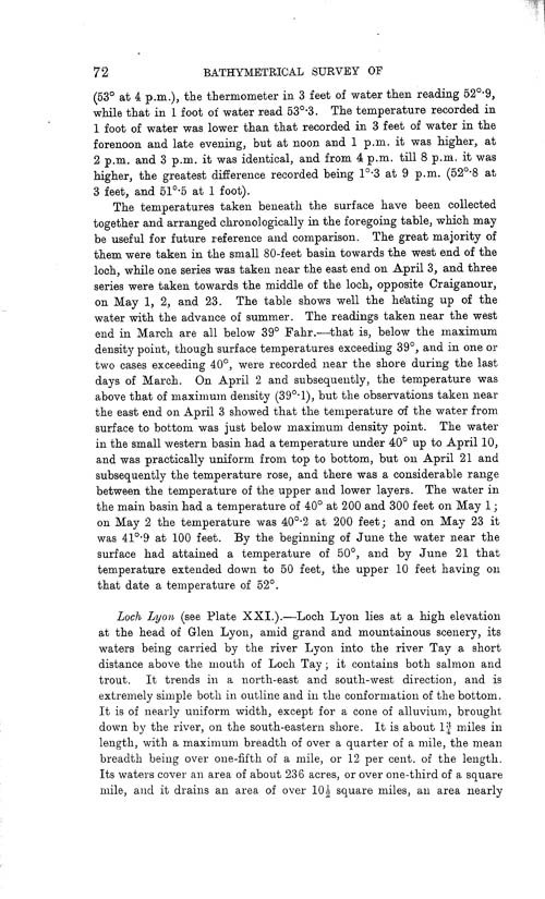 Page 72, Volume II, Part I - Lochs of the Tay Basin