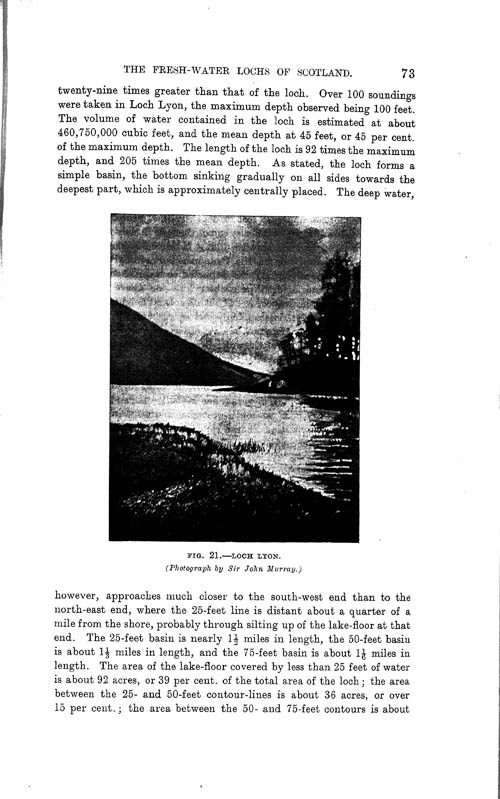 Page 73, Volume II, Part I - Lochs of the Tay Basin