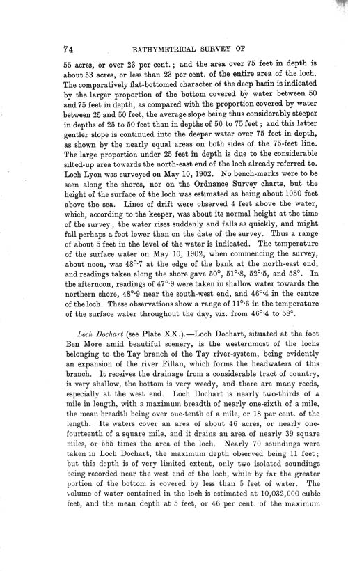 Page 74, Volume II, Part I - Lochs of the Tay Basin