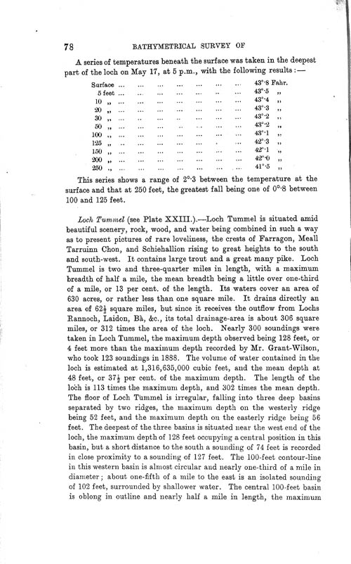 Page 78, Volume II, Part I - Lochs of the Tay Basin