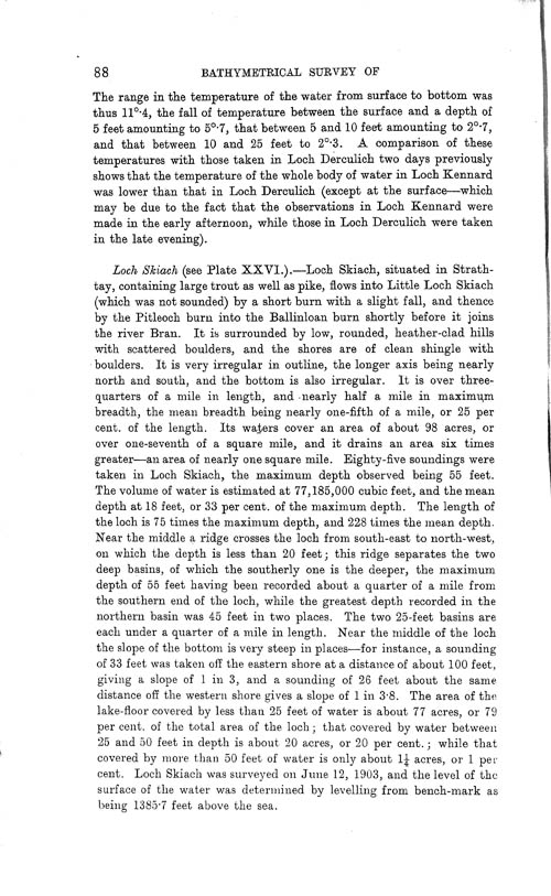 Page 88, Volume II, Part I - Lochs of the Tay Basin