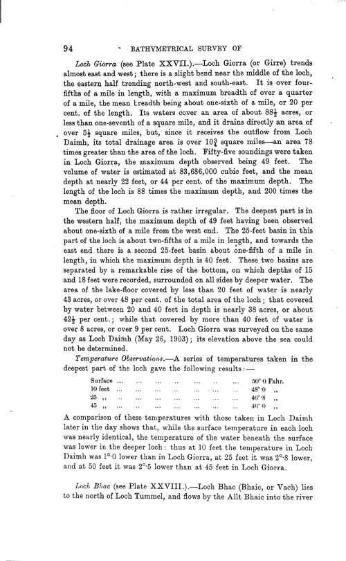 Page 95, Volume II, Part I - Lochs of the Tay Basin