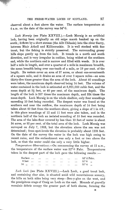 Page 97, Volume II, Part I - Lochs of the Tay Basin