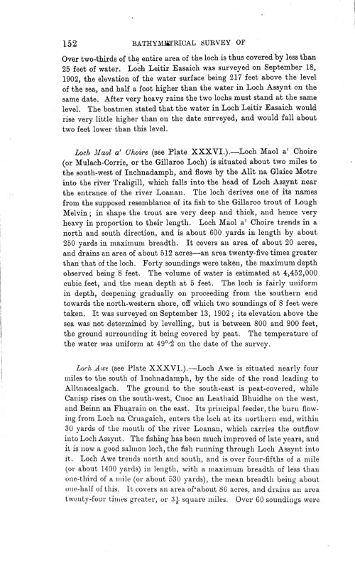 Page 152, Volume II, Part I - Lochs of the Inver Basin