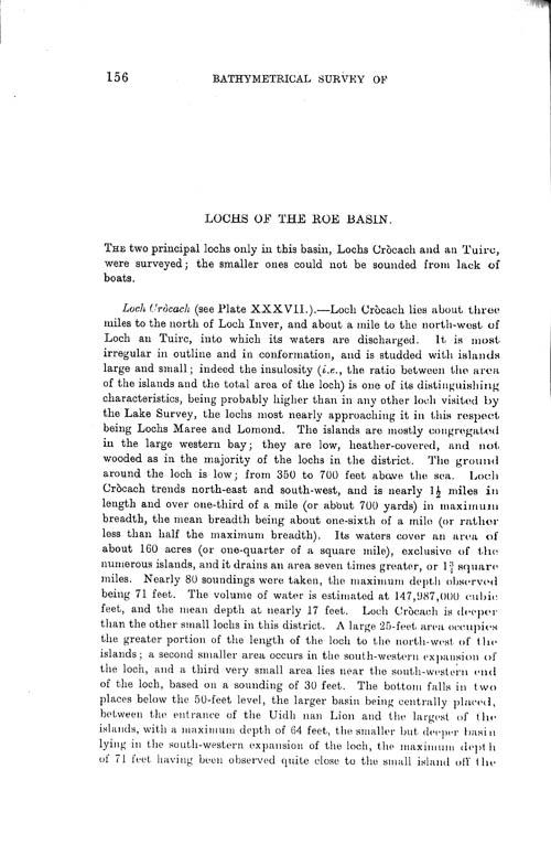 Page 156, Volume II, Part I - Lochs of the Roe Basin