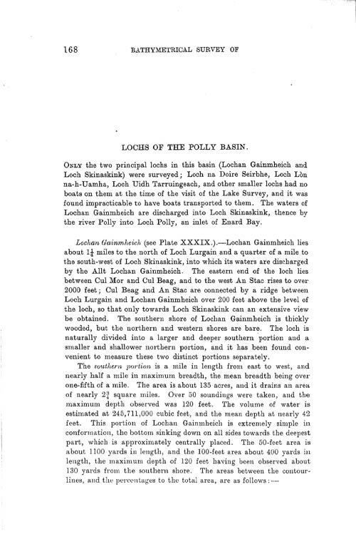 Page 168, Volume II, Part I - Lochs of the Polly Basin
