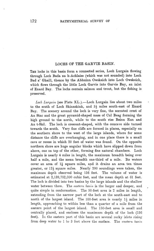 Page 172, Volume II, Part I - Lochs of the Garvie Basin