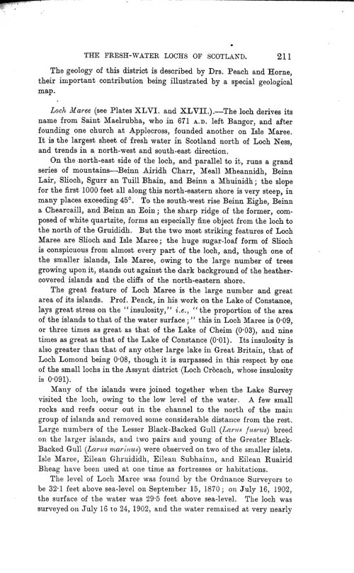 Page 211, Volume II, Part I - Lochs of the Ewe Basin