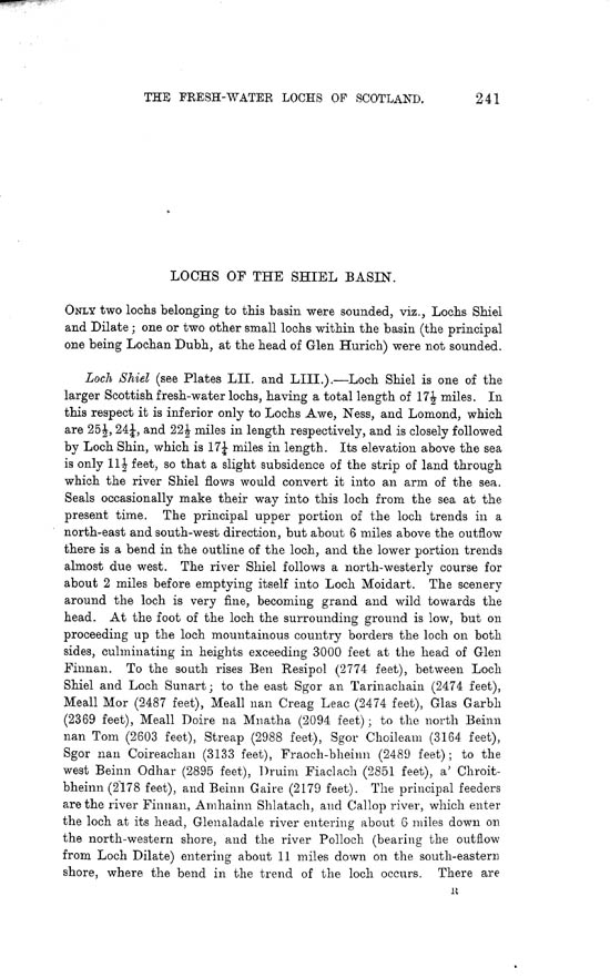 Page 241, Volume II, Part I - Lochs of the Shiel Basin