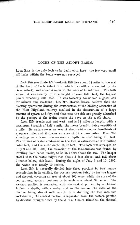 Page 249, Volume II, Part I - Lochs of the Ailort Basin