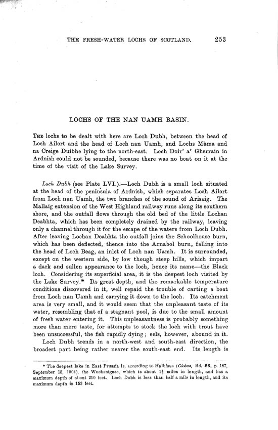 Page 253, Volume II, Part I - Lochs of the nan Uamh Basin