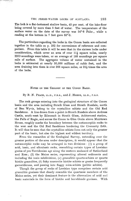 Page 283, Volume II, Part I - Lochs of the Conon Basin