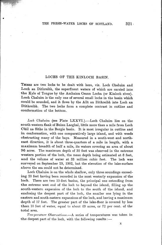 Page 321, Volume II, Part I - Lochs of the Kinloch Basin