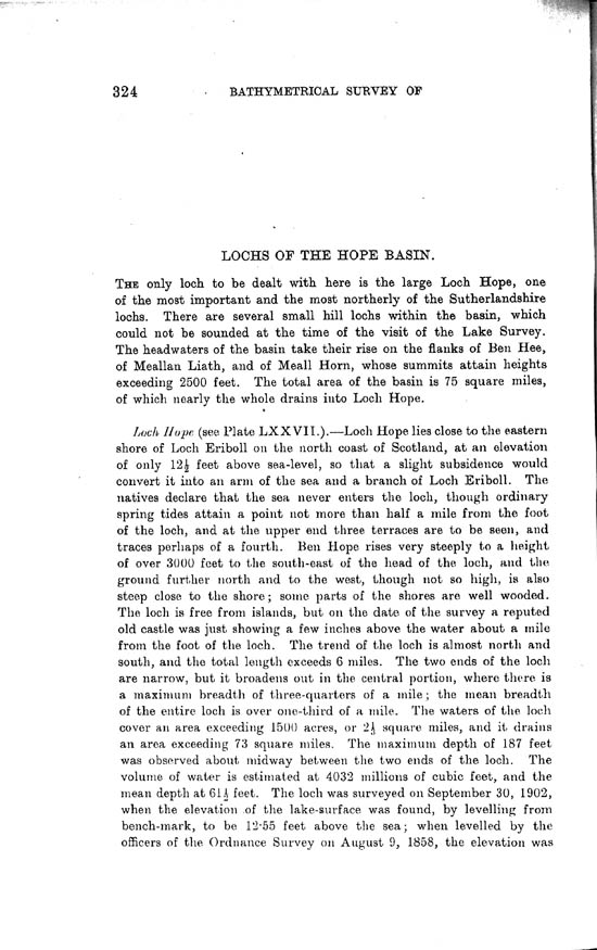 Page 324, Volume II, Part I - Lochs of the Hope Basin