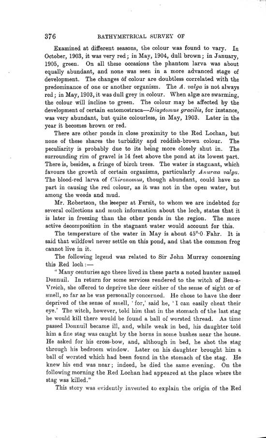 Page 376, Volume II, Part I - Lochs of the Lochy Basin