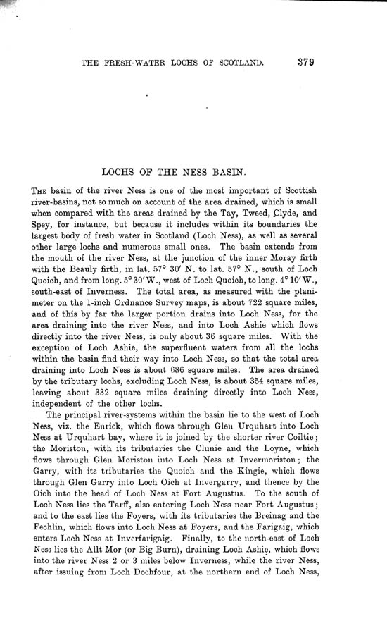 Page 379, Volume II, Part I - Lochs of the Ness Basin