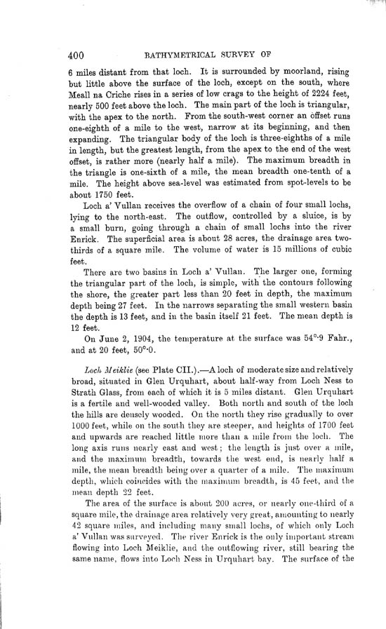 Page 400, Volume II, Part I - Lochs of the Ness Basin
