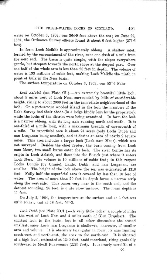 Page 401, Volume II, Part I - Lochs of the Ness Basin
