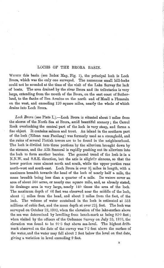 Page 1, Volume II, Part II - Lochs of the Brora Basin