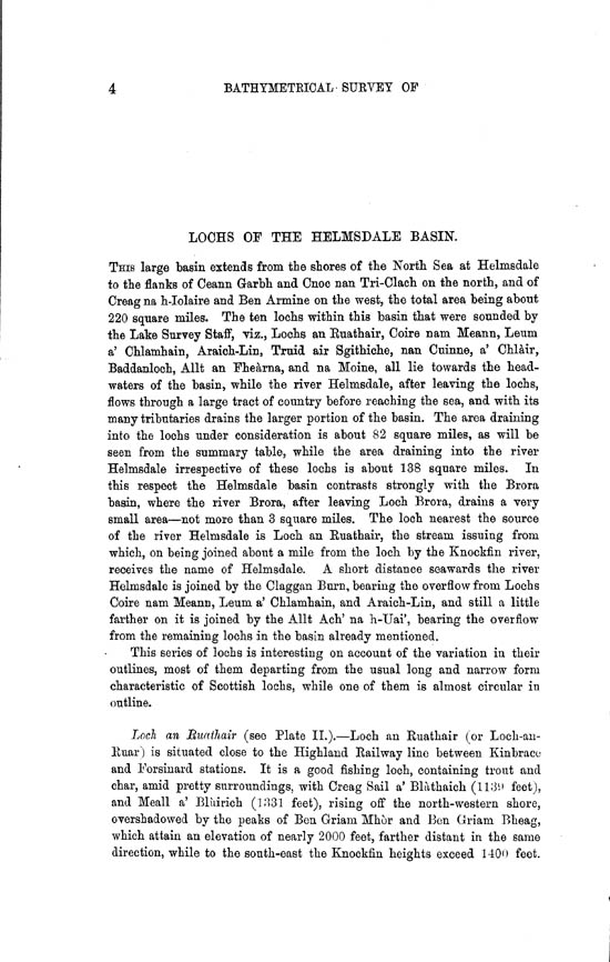 Page 4, Volume II, Part II - Lochs of the Helmsdale Basin