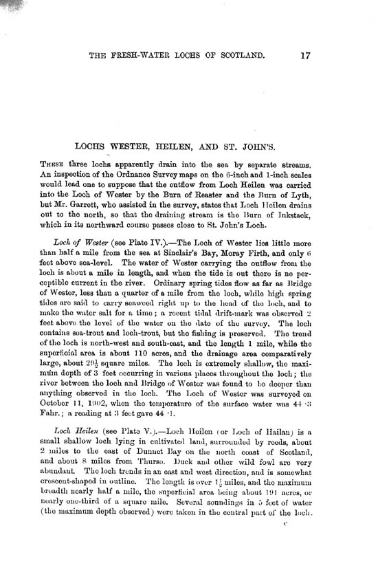 Page 17, Volume II, Part II - Lochs of the Wester Basin and Heilen Basin
