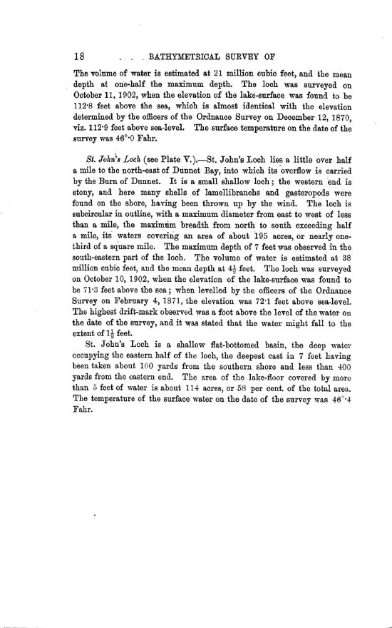 Page 18, Volume II, Part II - Lochs of the Dunnet Basin