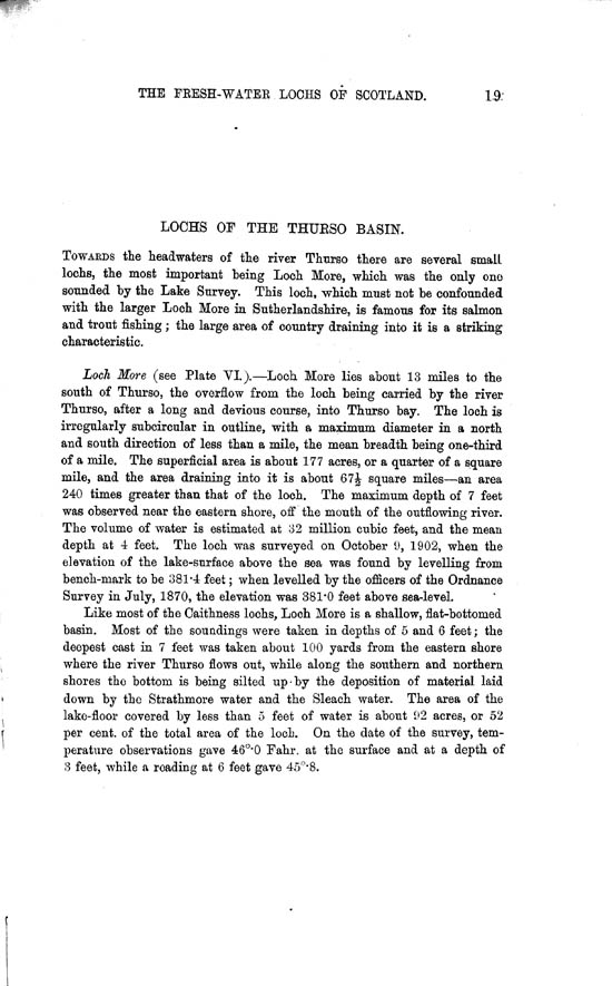Page 19, Volume II, Part II - Lochs of the Thurso Basin