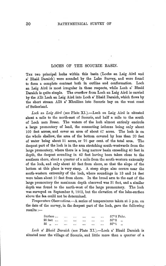 Page 30, Volume II, Part II - Lochs of the Scourie Basin