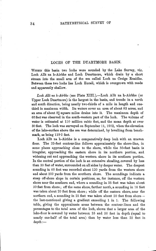Page 34, Volume II, Part II - Lochs of the Duartmore Basin