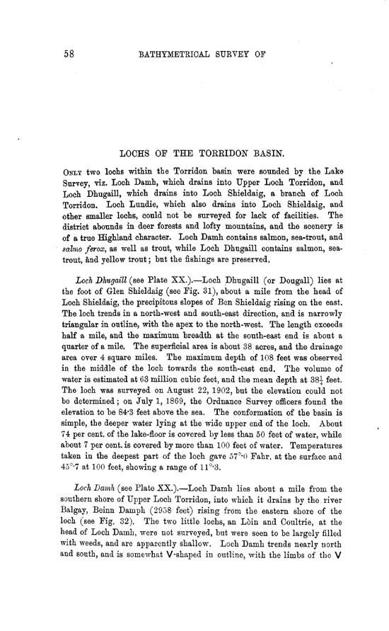 Page 58, Volume II, Part II - Lochs of the Torridon Basin