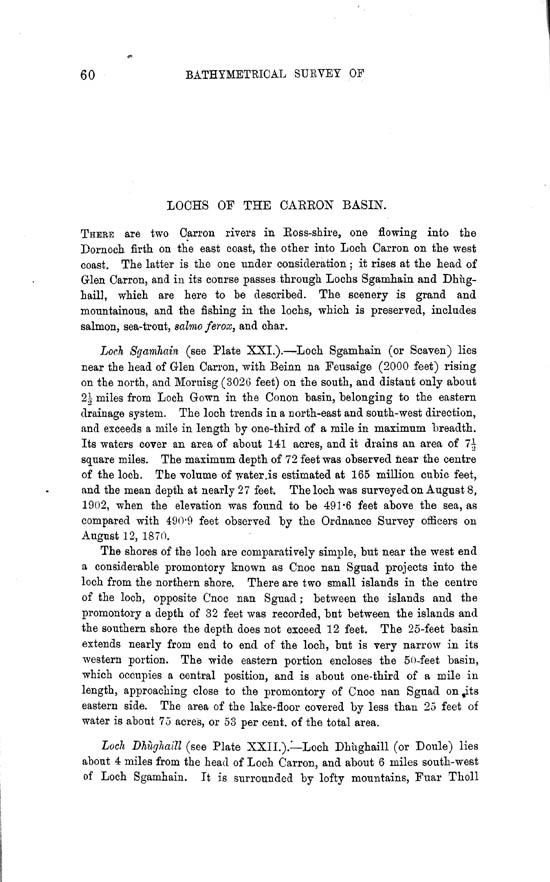 Page 60, Volume II, Part II - Lochs of the Carron Basin