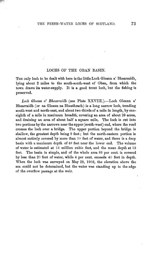 Page 73, Volume II, Part II - Lochs of the Oban Basin