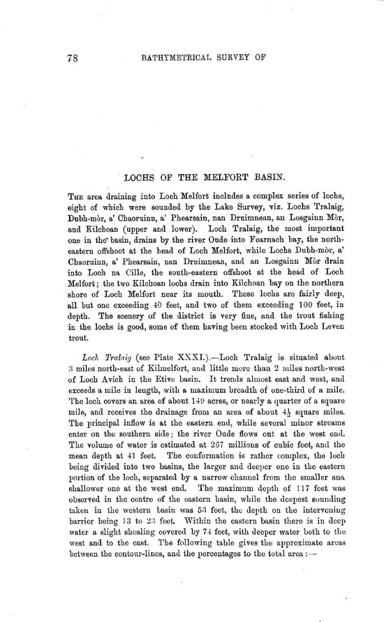 Page 78, Volume II, Part II - Lochs of the Melfort Basin