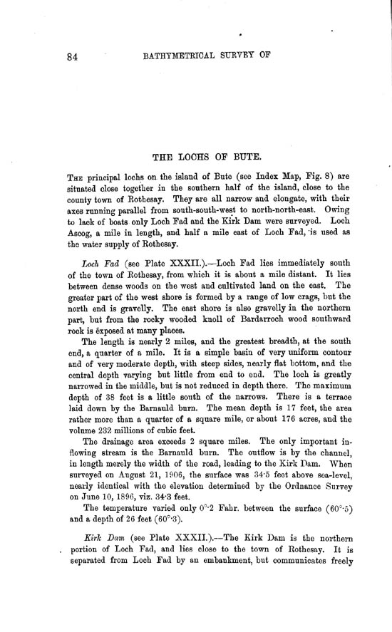 Page 84, Volume II, Part II - Lochs of Bute