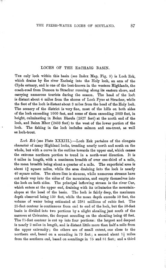 Page 87, Volume II, Part II - Lochs of the Eachaig Basin