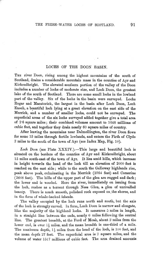 Page 91, Volume II, Part II - Lochs of the Doon Basin