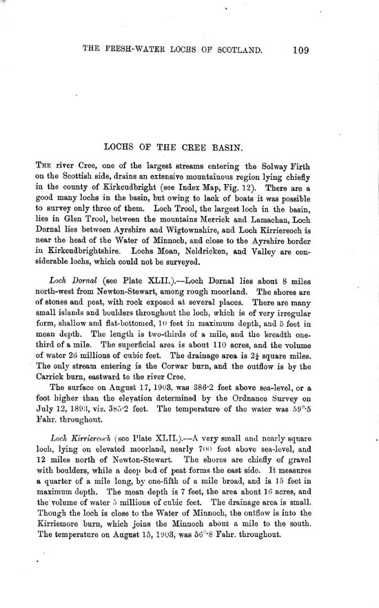 Page 109, Volume II, Part II - Lochs of the Cree Basin
