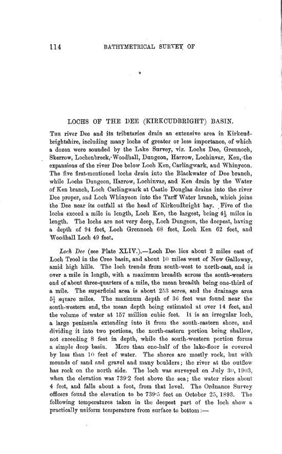 Page 114, Volume II, Part II - Lochs of the Dee (Kirkcudbright) Basin