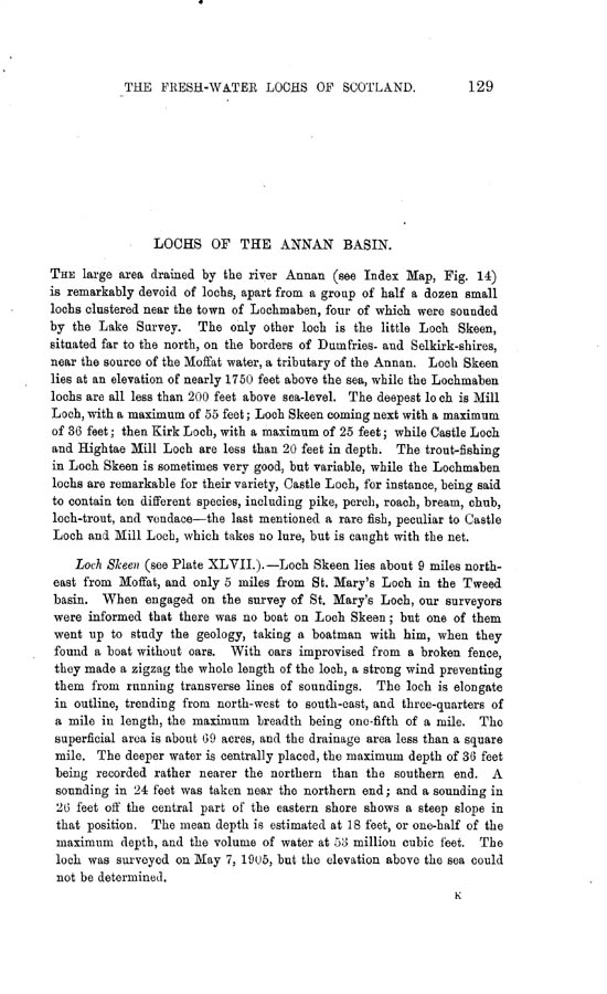 Page 129, Volume II, Part II - Lochs of the Annan Basin