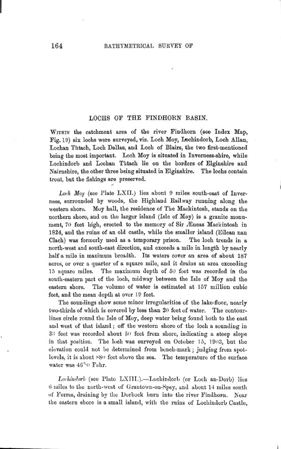Page 164, Volume II, Part II - Lochs of the Findhorn Basin