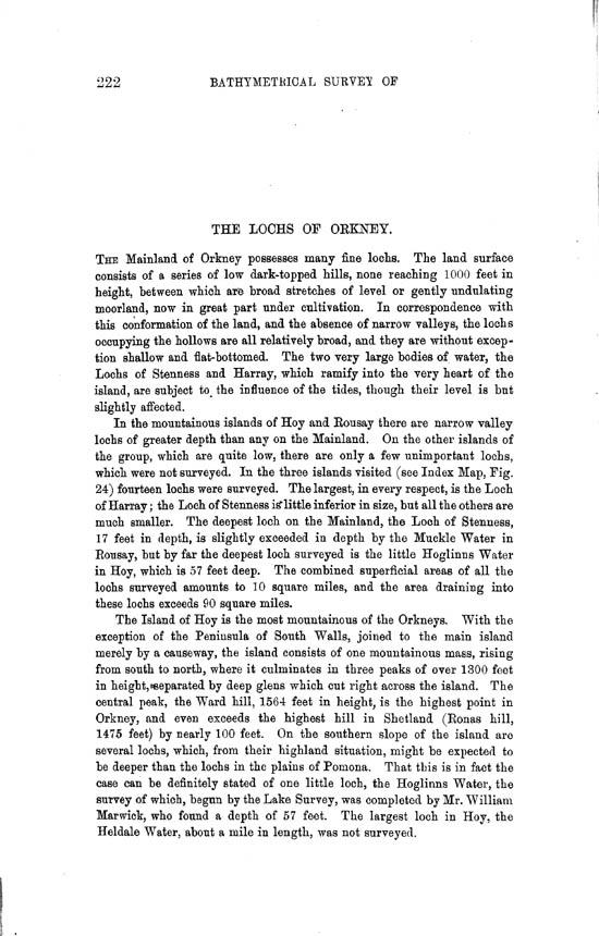 Page 222, Volume II, Part II - Lochs of Orkney