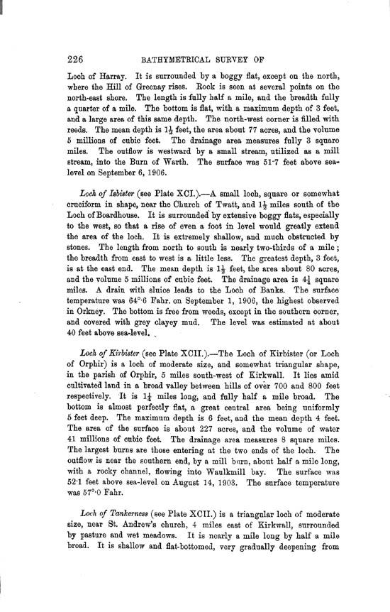 Page 226, Volume II, Part II - Lochs of Orkney