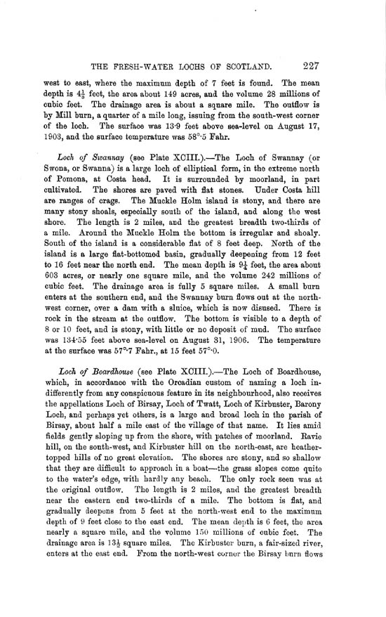 Page 227, Volume II, Part II - Lochs of Orkney